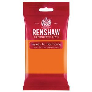 Renshaw Professional Sugar Paste - Tiger Orange